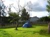 Zelten auf der Gartenwiese